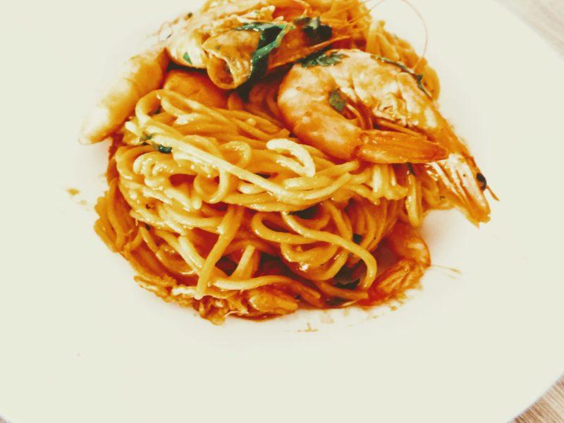 Italian Shrimp Pasta #glutenfree / Italské těstoviny s krevetami nejen pro sváteční stůl #bezlepku