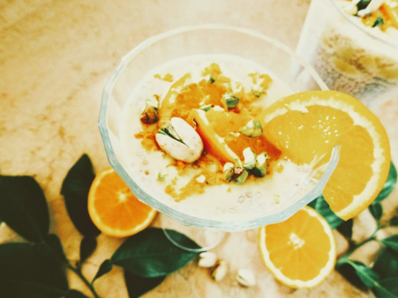 Recipe: Vegan Chia pudding with the orange-pistachio cream