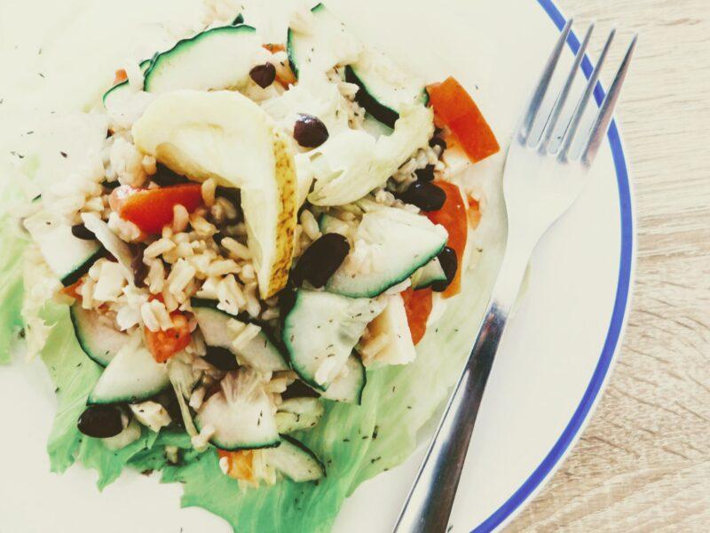 Sprouted rice salad / Salát z naklíčené rýže